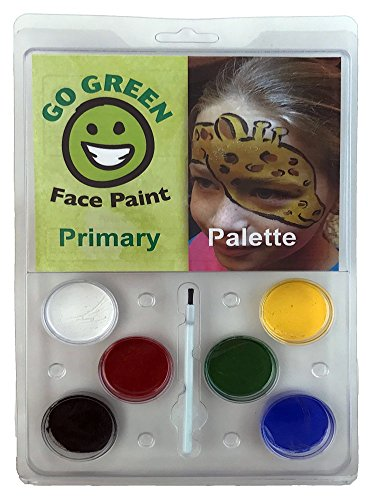 Face Paint Kit - Water-based No Lead 6 Primary Color Palette Highest Child Safety Rating Hypoallergenic, Perfect for Halloween, Makes the Perfect Stocking Stuffer,, Made in the US … (Date Halloween Started)