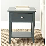 Safavieh American Homes Collection Coby Steel Teal End Table For Sale
