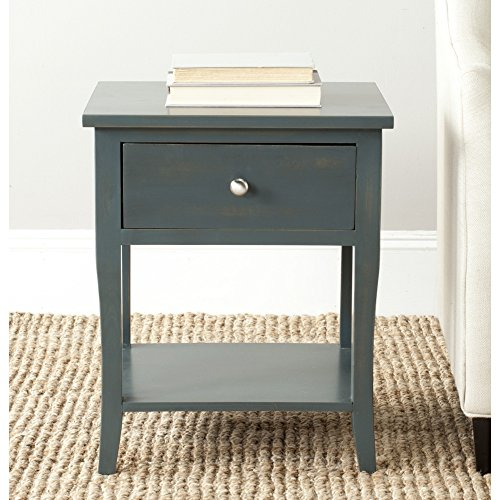 Safavieh AMH6616B American Homes Collection Coby End Table, Steel Teal