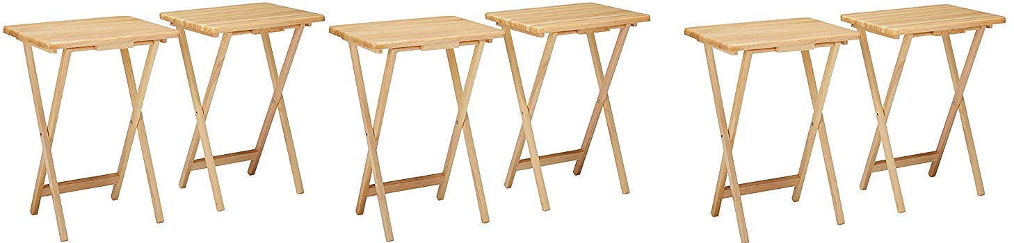 Winsome 42290 Alex Set TV Table, Natural (3 X Pack of 2) by Winsome