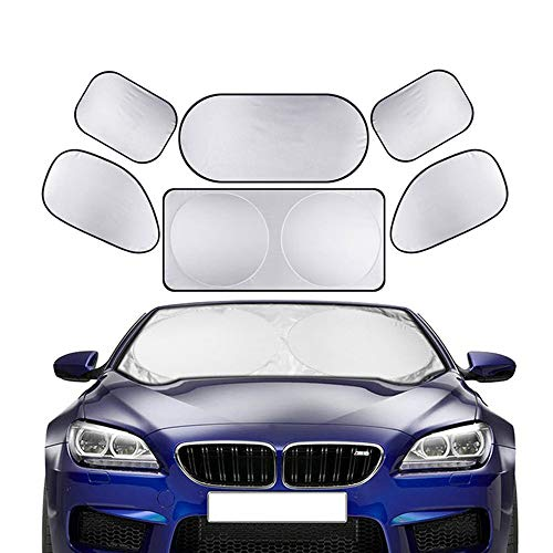 CARWORD Car Sun Shade 6pcs Window Shades Roof Window Protector Baby for Children Adult Toddlers Universal for Car Van SUV