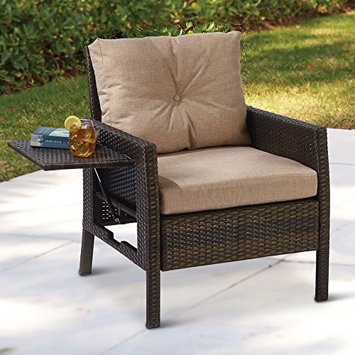 Resin Wicker Chair with Side Table by Griffard & Associates LLC