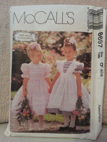 - McCall's 8697 Fancy Little Girl's Dress & Pinafore (Size 4,5,6) Sewing Pattern