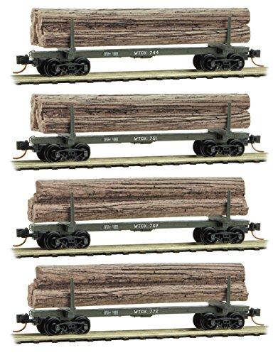 Micro-Trains MTL N-Scale Weyerhaeuser Modern Logging/Log Cars/Load Runner 4-Pack
