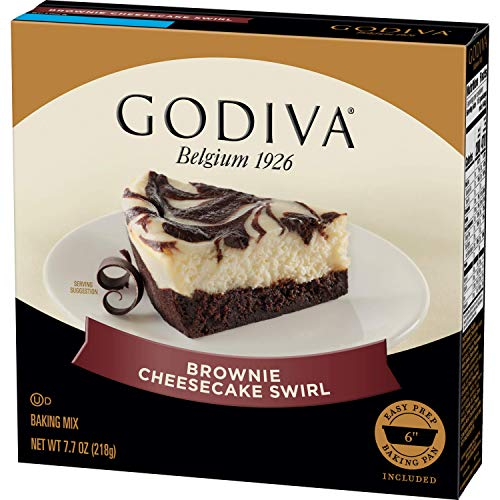 Godiva Brownie Cheesecake Swirl Baking Mix, 5 Count