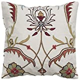 Rizzy Home T05030 Decorative Poly Filled Throw Pillow 20″ x 20″ Red/white Review