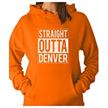 TeeStars - Straight Outta Denver - Best Gift for Football Fans Women Hoodie