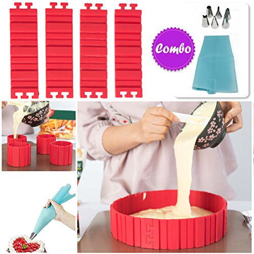 BAKE ANY SHAPE CAKE WITH MAGIC SILICONE NON STOCK FLEXIBLE CAKE MOLD
