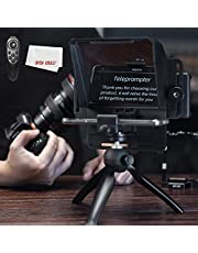 AMBITFUL Teleprompter Kit Portable Inscriber Mobile Phone Teleprompter Artifact Video with Remote Control for Phone and DSLR Recording