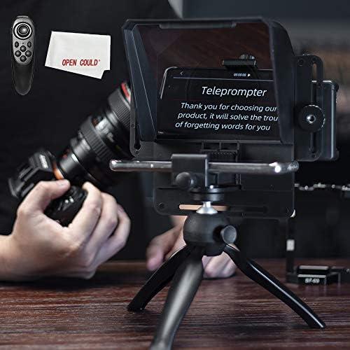 AMBITFUL Teleprompter Kit portátil Inscriber Teléfono Móvil Teleprompter Artefacto Video con mando a distancia para cinta de teléfono y DSLR