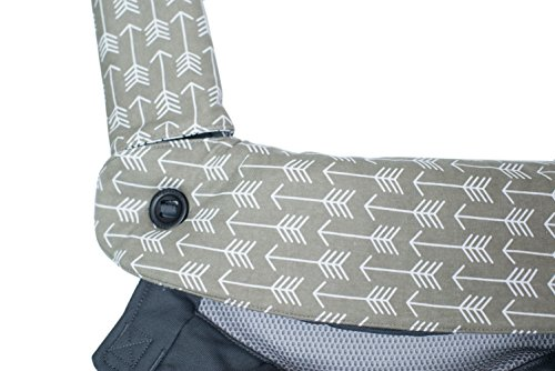 Premium 2 Packs Drool and Teething Reversible Cotton Pad | Fits Ergobaby Four Position 360 and Most Baby Carrier | Gray Arrow Cross Design | Hypoallergenic | Great Baby Shower Gift by Mila Millie by Mila Millie (Image #1)