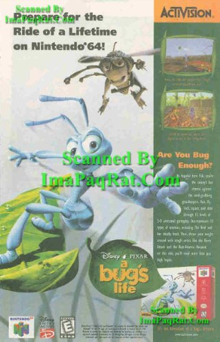 A Bug's Life: Flik & Hopper: Nintendo 64, Activision, Disney, PIXAR: Video Game: Great Original Print Ad! Hopper Dot