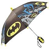 DC Comics Little Boys Batman Character Rainwear Umbrella, Black/Yellow, Age 3-7
