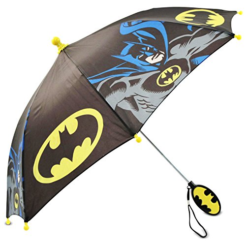 - DC Comics Little Boys Batman Character Rainwear Umbrella, Black/Yellow, Age 3-7