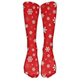 Best Starter Snow Socks - Christmas Beautiful Snowflake Red Stockings Long Tube Socks Review