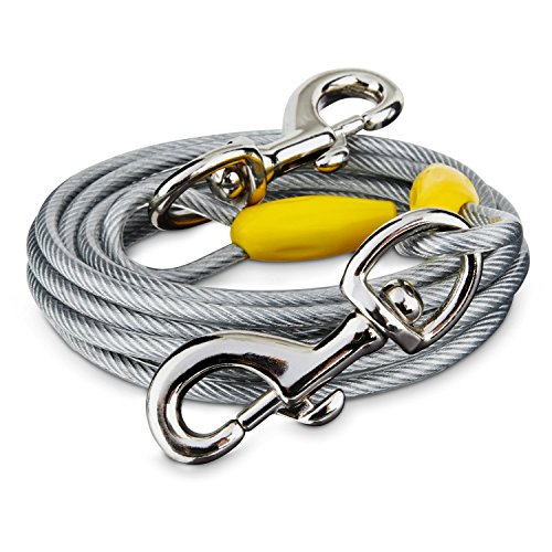 (You & Me Gray X-Large Free to Flex Dog Tie-Out Cable, 40' L, for Dogs up to 150 Lbs.)