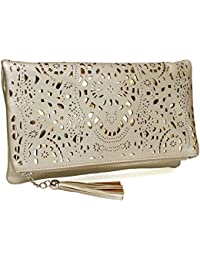 Amazon.com: Gold - Clutches / Handbags & Wallets: Clothing, Shoes ...