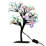 MUNAN 15.8 Inch LED Cherry Blossom Tree Branches Light Table Lamp Night Light Decoration for Indoor Home Desk Top Baby Room Bedside (Multi-colored, Lotus Shape)