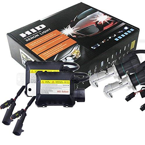 Ocamo 2pcs 55W H4 HID Bi-Xenon HI/LOW Headlight Bulbs Conversion KIT 3000-12000K