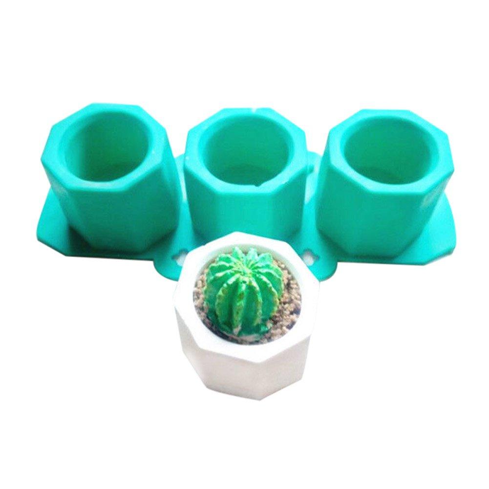 Crewell silicone cactus Flower pot Mold ceramica argilla Craft casting calcestruzzo coppa stampo forniture