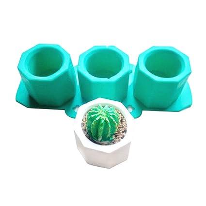 lzndeal Molde de cactus de flor de silicona Molde de arcilla de cerámica Casting Moldes de