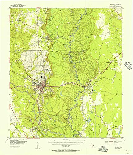 YellowMaps Silsbee TX topo map, 1:62500 Scale, 15 X 15 Minute, Historical, 1955, Updated 1956, 20.9 x 18 in - Paper