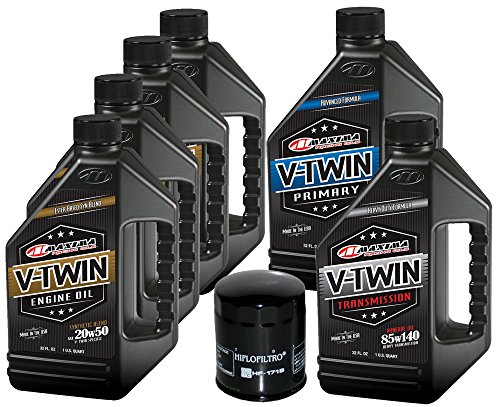 MaximaHiflofiltro VTTOCK21 Complete Engine Oil Change Kit for V-Twin Synthetic Blend Harley Davidson Twin Cam, 6 Quart ()