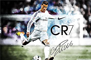 2016 NEW Cristiano Ronaldo Poster Football Madrid Posters Wall Sticker CR7 Wallpaper World Cup Stickers