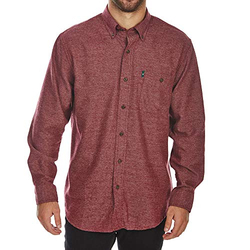 G.H. Bass & Co. Men's Jaspe Flannel Long Sleeve Shirt, Tawny Port, X-Large from G.H. Bass & Co.