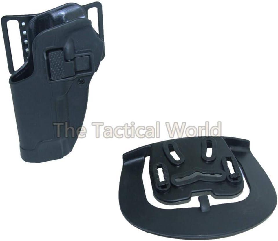 Vioaplem Negro CQC Mano Izquierda M9 92 96 Airsoft táctico Pistolera Alta Caza Militar de Disparo de la Correa de la Cintura pistolera Accesorios