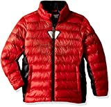 Spyder Active Sports Boy's Marvel Prymo Synthetic Down Jacket, Red/Ironman, X-Large