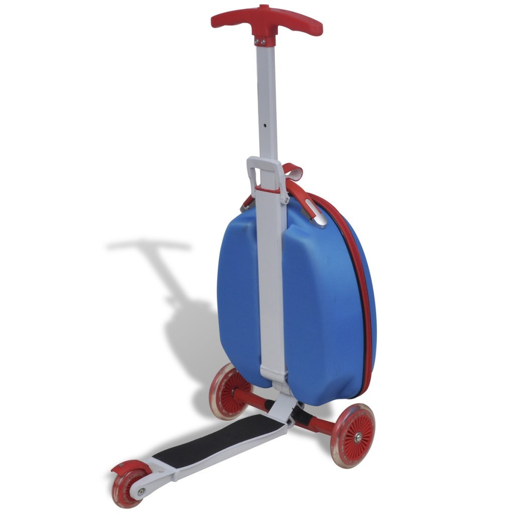 vidaXL Blue Trolley Case with Scooter for Children: Amazon.co.uk ...