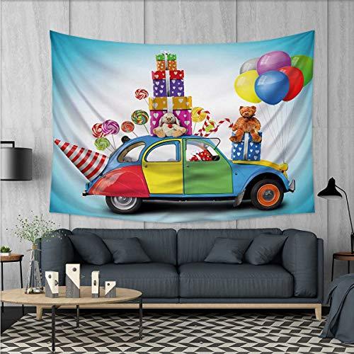 Anhuthree Birthday Tapestry Wall Hanging 3D Printing Colorfu