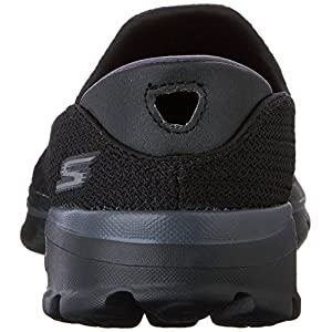 Skechers Performance Women's Go Walk 3 Slip-On Walking Shoe, Black, 8 M US
