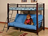 Major-Q Sh4510 Sturdy Wood/Metal Twin Over Futon Bunk Bed Frame
