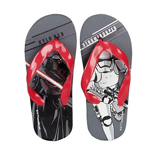 takestop® Flip Flops Star Wars Disney Grau Rot Kylo Ren Stormtrooper Anzahl 28Flip Flop Kinds Kinder Sandalen Badeschuhe Meer Muster