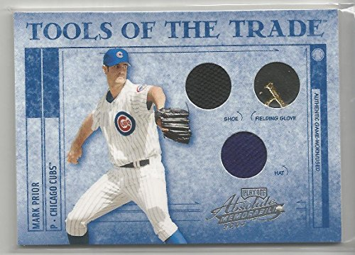 2003 Absolute Memorabilia Baseball Mark Prior Tools Of The Trade Triple Relic Card # 42/50