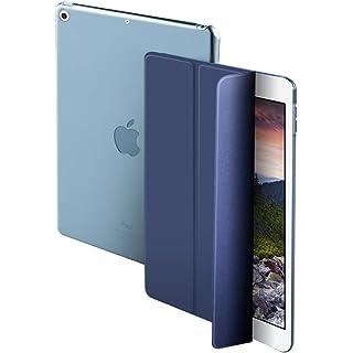 Cazcase Smart Flip Translucent Back Case Cover for Apple Ipad Mini 1 2 3 Midnight Blue