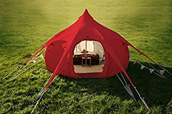 Original Lotus Belle 16ft Hybrid Deluxe Tent Made of 360gsm Canvas Material, Ethically Made Heavy Duty Cotton Canvas Built to Last Suitable For All Climates