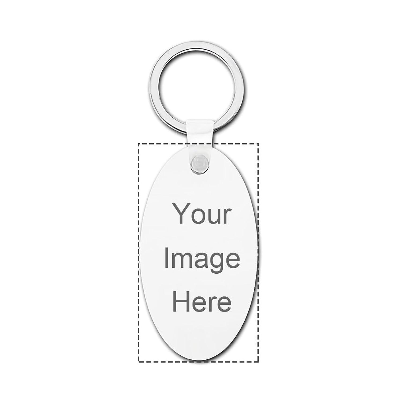 Design Prinablet photo or text Keychains Custom Personalized Hardboard Oval Keychain Set