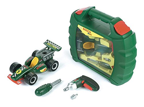 Price comparison product image Theo Klein BOSCH Toys Grand Prix Case Ixolino Toy Kit Race Car Kids Set by HTS