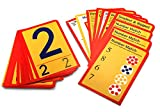 Hygloss Products Number Tracing Cards, Interactive Numeracy Games, 32 Write & Wipe Cards for Kinesthetic Learning