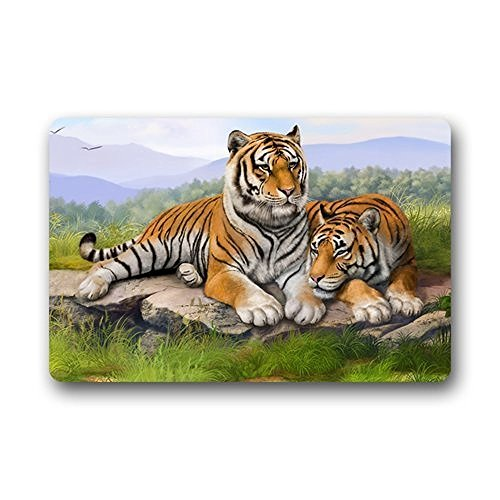 Vipsung Custom Tiger Outdoor s Living Room Bedroom Washable Doormat Bath Kitchen Decor Area (Custom Tiger)