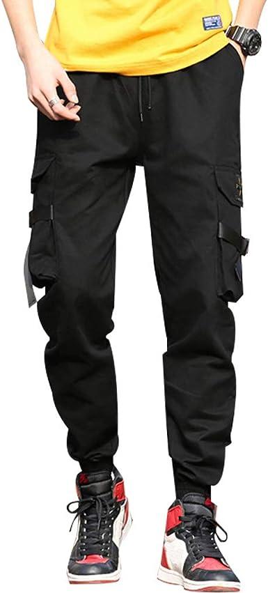 Tasty Life Pantalones Cargo Para Hombres Pantalones De Bolsillo Pantalones Largos Para Hombres Con Bolsillos Laterales Con Cordon Pantalones Hip Hop Adolescentes Y Ninos Pequenos Amazon Es Ropa Y Accesorios