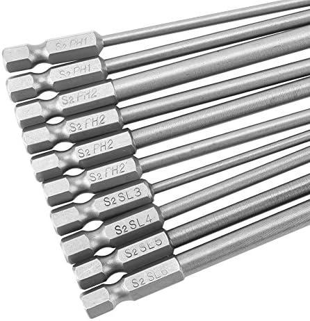 1//4 Inch Hex 5pcs Details about  /Magnetic  Design Phillips PH2 Screwdriver Bits Set