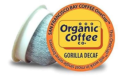 San Francisco Bay Organic Coffee OneCup 72 ct. Gorilla Decaf