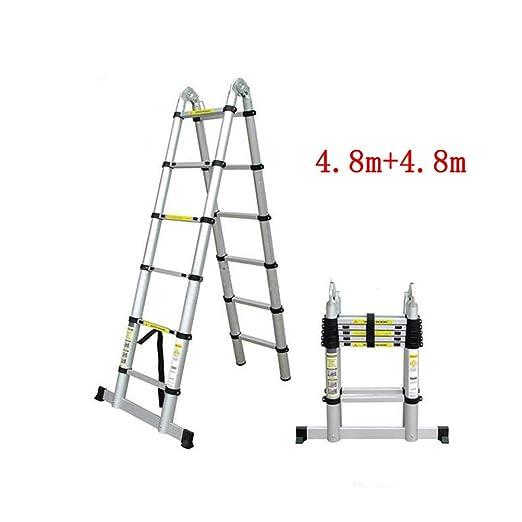 multifuncional port/átil plegable vers/átil perfecta para todas tus necesidades Escalera doble telesc/ópica de 3,2 m