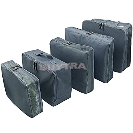 gneric 5 PCS Waterproof Clothes Storage Bags Packing Cube Travel Luggage Organizer Bag OEM