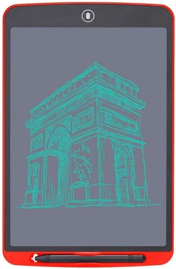LCDライティングタブレット12インチの電子グラフィックタブレットポータブルボード手書き ペン&タッチ マンガ・イラスト制作用モデル (Color : Red)