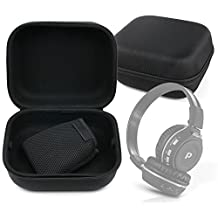 LARGE Matte Black Tough EVA Storage Carry Case for the Pyle Sound 7 Headphones - by DURAGADGET